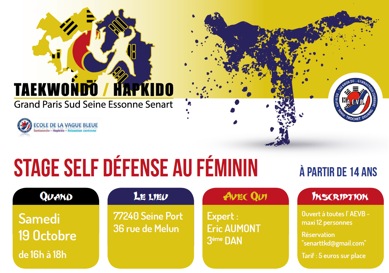 Stage self defense 19 octobre